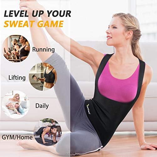 Junlan Sauna Suit for Women Sweat Workout Tank Tops Heat Trapping Vest Slimming Polymer Sauna Vest 6