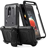 LG Aristo 2 Case/Aristo 3/Rebel 4 LTE/Tribute Dynasty/Tribute Empire/Zone 4/K8+/K8S/Fortune 2/Phonenix 4 Phone Case with Screen Protector Belt Clip[Kickstand] Full Body Heavy Duty Protective,Black