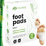 Foot Pads, 30 Pack with All Natural and Organic Formula, Stress and Pain Relief, Sleep Better and Remove Impurities, Full Body Cleanse, Metabolism Booster, Set of 30 Patches