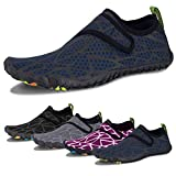 Water Shoes for Men and Women Barefoot Quick-Dry Aqua Sock Outdoor Athletic Sport Shoes for Kayaking, Boating, Hiking, Surfing, Walking (E-Dark Blue, 40)