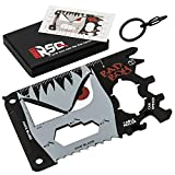 23-in-1 Credit Card Multi Tool GIFTS FOR HIM | Unique Gifts for Men Who Have Everything | COOLEST GADGETS Regalos para Hombre Multi Tool Card Set - BadBoy Edition v3.0