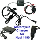 Motorcycle Battery Hard Wire Charging Cable for Garmin Nuvi 1490