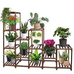 Balcony Wood Plant Stand