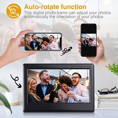 DBPOWER-7-Inch-Digital-Picture-Frame-Upgraded-Digital-Photo-Frame-with-169-HD-IPS-Display-PhotoMusicVideo-PlayerCalendarClockAuto-OnOff-Timer-Advertising-Player-with-Remote