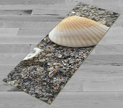 Pimp My Yoga Mat - Sand and Shell - Original Artwork 72x24 in Yoga Mat / Pilates Mat, 1/8 in Thick