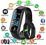 Smart Band Fitness Tracker Watch Heart Rate with Activity Tracker Waterproof Body Functions Like Steps Counter, Calorie Counter, Blood Pressure, Heart Rate Monitor LED Touchscreen