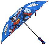 DC Comics Superman Boys Blue compact Umbrella - 3D Handle