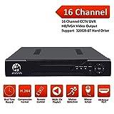JOOAN 16 Channels H.264 Network Motion Detection 16CH DVR CCTV Surveillance Security System Digital Video Recorder 5-in-1 AHD DVR (1080P NVR+1080N AHD+960H Analog +TVI+CVI) No HDD(no Hard Drive)