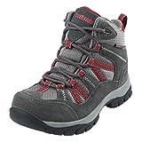 Northside Unisex Freemont Waterproof Hiking Boot, Dark Gray/red, 4 Medium US Big Kid