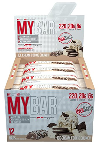 Pro Supps MYBAR Delicious Oven Baked Protein Bar, 1.94 Ounce, 12 Count