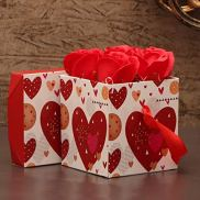 TIED-RIBBONS-Valentine-Gift-for-Wife-Husband-Boyfriend-Girlfriend-Girls-Boys-Combo-Couple-Showpiece-Figurine-and-Scented-Rose-Flowers-with-Gift-Box