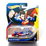 Hot Wheels, 2015 DC Comics Character Car, Superman Man of Steel Die-Cast Vehicle, 1:64 Scale