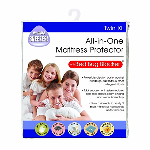 Bed Bug Blocker Hypoallergenic All In One Breathable Twin XL Mattress Cover Encasement Protector Zippered Water Resistant Dust Mite Allergens Insects