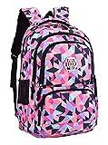 Fanci Geometric Prints Primary School Student Satchel Backpack For Girls Waterproof Preppy Schoolbag