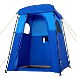 KingCamp Oversize Outdoor Easy Up Portable Dressing Changing Room Shower Privacy Shelter Tent (Blue)