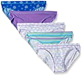 Hanes Ultimate Girls' 5-Pack Cotton Stretch Bikini Panties, assorted, 12