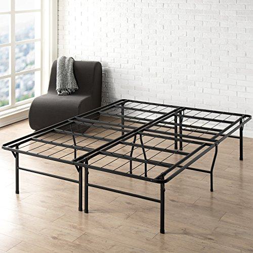 Best Price Mattress Queen Bed Frame - 18 Inch Metal Platform Beds w/Heavy Duty Steel Slat Mattress Foundation (No Box Spring Needed), Black