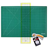 WA Portman Rotary Cutter Set I Rotary Fabric Cutter with 5 Extra Cutter Blades 24x36 inch Self Healing Cutting Mat and 6x24 Inch Quilting Ruler in a Sewing Quilting Craft Supplies Set