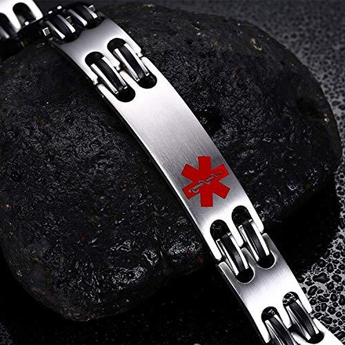Lam Hub Fong Free Engrave Adjustable Medical Bracelets Mens Emergency ID Bracelets for Women Kids Titanium Steel Medical Alert Bracelets deal 50% off 51bAr9Tb8WL