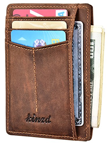 Slim Wallet RFID Front Pocket Wallet...