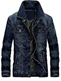 Product review for Vogstyle Men's Winter Distressed Denim Trucker Jacket Slim Fit Casual Pockets Button Down Jacket