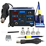 Super Deal PRO 2in1 Soldering Station 862d+ SMD Hot Air Rework Station Soldering Iron Station LED Display W/4 Nozzle