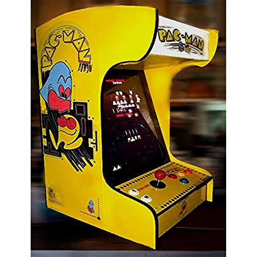 Doc-Pies-Arcade-Factory-Full-Size-LCD-Screen-412-Classic-1980s-Games-Vintage-Retro-Arcade-Machine-Console-Cabinet-Pac-Man-Revival-Art-Red