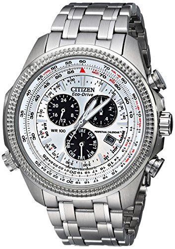 51bFutt0tLL Case diameter : 47 mm Round stainless steel watch featuring light-powered eco-drive with dual-time functions and date window at four o'clock position Eco-Drive E820 movement with analog display