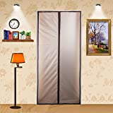 ZYettst Magnetic Thermal Insulated Door Curtain for Living Room and Kitchen,EVA Magnetic Screen Door Enjoy Your Cool Summer And Warm Winter Auto Closer Fits Doors Up To 34' x 82' MAX