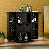 Product review for Stylish Bar Cabinet - Mini Home Liquor Wine Glass Storage Expandable Furniture