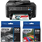 Epson WF-2750 All-in-One Wireless Color Printer with Scanner, Copier & Fax, Amazon Dash Replenishment Enabled with Ultra Black Cartridge Ink and Ultra Color Combo Pack Cartridge Ink