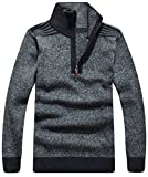 Product review for ainr Men's Casual Long-sleeves Wool Half-zip Sweater