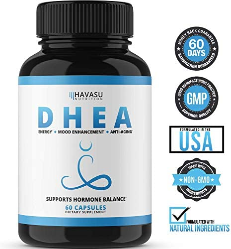 Havasu Nutrition DHEA 50mg Extra Strength Designed for Promoting Youthful Energy, Balance Hormone Levels & Supports Lean Muscle Mass, Non-GMO, Supplement for Men & Women, 60 Capsules 8