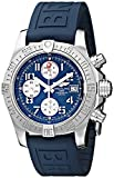 Breitling Men's BTA1338111-C870BLPD3 BMMOA10098 Stainless Steel Watch with Blue Rubber Band