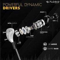 Florid-Bass-Machine-007-in-Ear-Metal-Wired-Earphones-with-Mic-and-in-Line-Control-Super-Extra-Bass-HD-Sound-12-Meters-Length-Gold-Plated-35mm-Universal-Jack-Silver