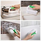 Amazer-Scrub-Brush-Comfort-Grip-Flexible-Stiff-Bristles-Heavy-Duty-for-Bathroom-Shower-Sink-Carpet-Floor-Pack-of-2-GreenGreen