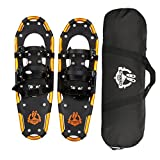 ENKEEO All Terrain Snowshoes Lightweight Aluminum Alloy with Carry Bag and Adjustable Ratchet Bindings, 80/120/160/210 lbs. Capacity, 18'/21'/25'/30'