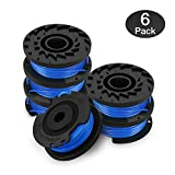 Eventronic Single Line String Trimmer Replacement Spool 0.065-Inch Autofeed Spools, Compatible with Greenworks String Trimmers,Pack of 6