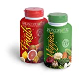 Balance Of Nature Fruit and Vegetable Supplement Tablets - 90 Veggie Capsules - 90 Fruit Capsules - Daily Superfood - Better Than A Multivitamin