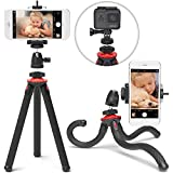 Xenvo SquidGrip iPhone Tripod, GoPro Tripod - Flexible Cell Phone Tripod Stand with Ball-Head 360, Compatible with iPhone, Android, Samsung, Google Smartphones, and ANY Mobile Phone (Red)