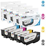 LD Remanufactured Ink Cartridge Replacements for Epson 410XL High Yield (1 Black, 1 Cyan, 1 Magenta, 1 Yellow, 4-Pack)