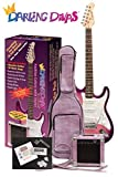 Darling Divas Electric Guitar Package | includes amp and case | Pink Starburst