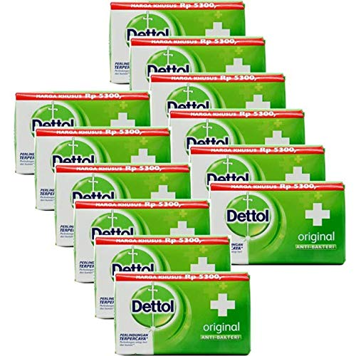 Dettol Original Antibacterial Soap, 100 Gr, 3.5 Ounces each (Pack of 12)