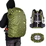 Loowoko Waterproof Backpack Rain Cover for (25-90L), Upgraded Anti-Slip Cross Buckle Strap & Rainproof Storage Pouch, for Hiking, Camping, Traveling, Cycling, Outdoor Activities