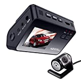 2.0 HD 1080P Dual Lens Car DVR Dash Cam Video Recorder Night Vision Senser