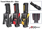 A99 Golf Travel Mate III Carryon Travel Cover Hard Case Hybrid Travel Bag with TSA Lock (Black/Red) + One Protection Skin