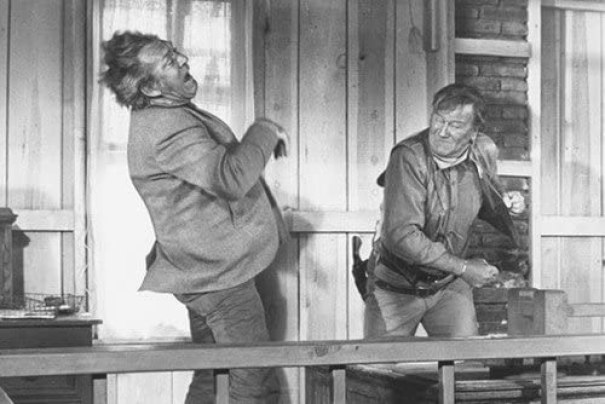 John Wayne and Forrest Tucker in Chisum 24x36 Poster classic fight ...