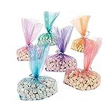 Fun Express - Cellophane Bag Assortment (6dz) for Party - Party Supplies - Bags - Cellophane Bags - Party - 72 Pieces