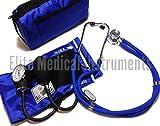 EMI ROYAL BLUE Sprague Rappaport Stethoscope and Aneroid Sphygmomanometer Manual Blood Pressure Set Kit - #330