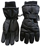 N'Ice Caps Women's Cold Weather Thinsulate and Waterproof Ski Gloves with Ridges (Large/X-Large, Black)
